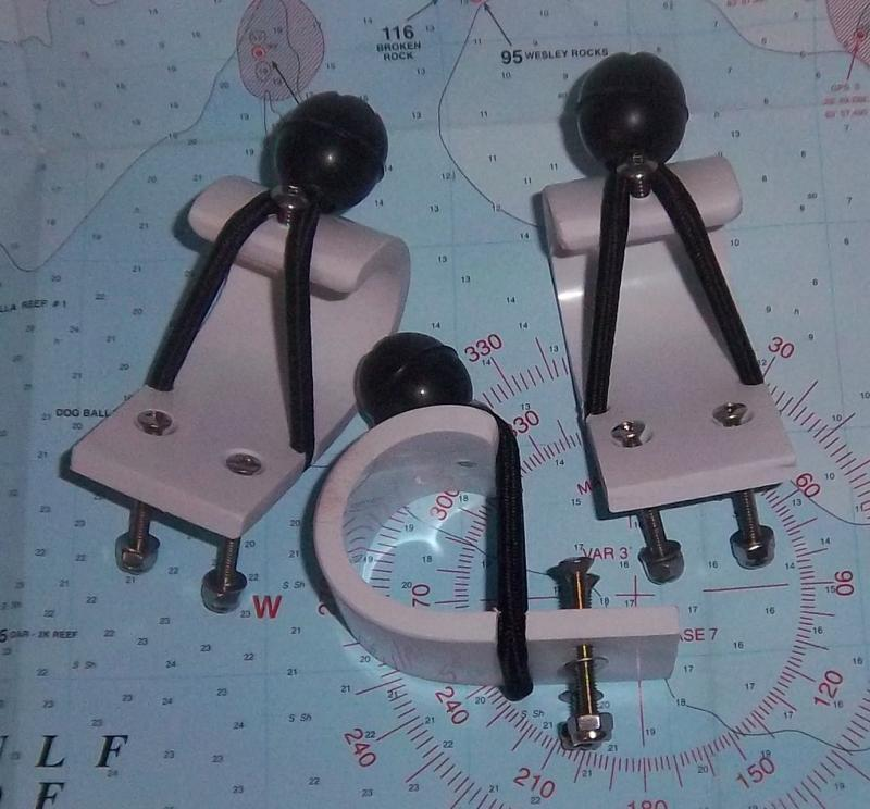 rail cap mount push pole brackets- no base