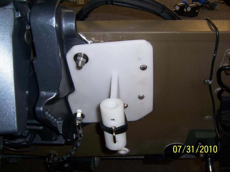 custom transom anchor pin mount